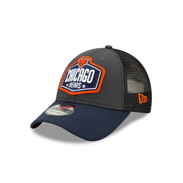 Chicago Bears NFL Draft 9FORTY Adjustable | Chicago Bears Hats | New Era Cap