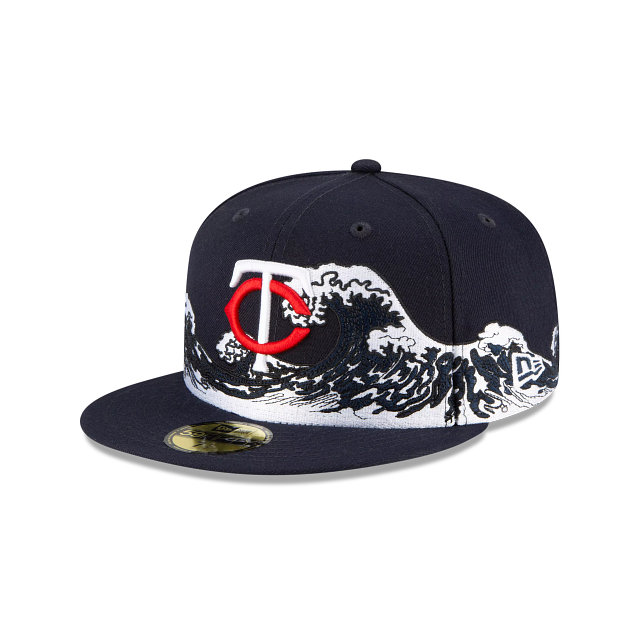 Minnesota Twins Wave 59FIFTY Fitted | Minnesota Twins Hats | New Era Cap