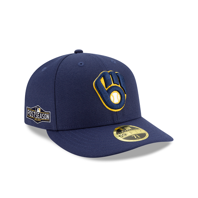 Milwaukee Brewers Postseason Side Patch Low Profile 59FIFTY Fitted | Milwaukee Brewers Hats | New Era Cap
