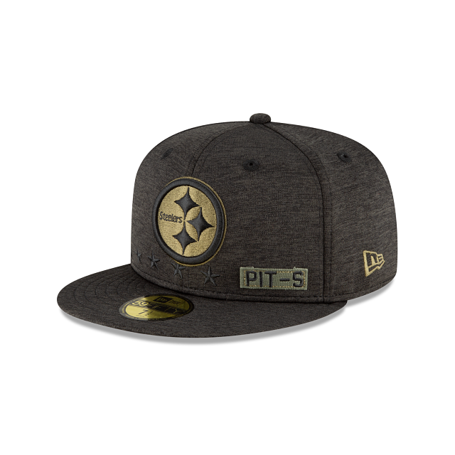 Pittsburgh Steelers Salute To Service 59FIFTY Fitted | Pittsburgh Steelers Hats | New Era Cap