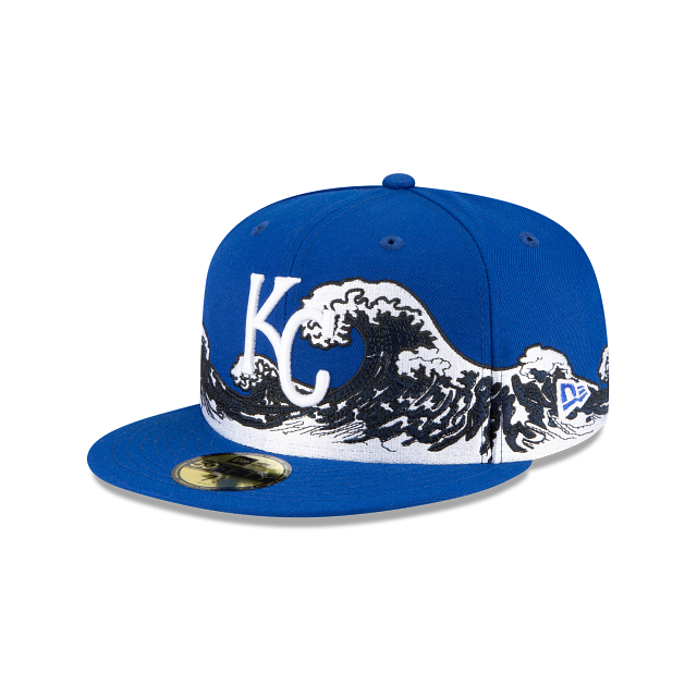 Kansas City Royals Wave 59FIFTY Fitted | Kansas City Royals Hats | New Era Cap