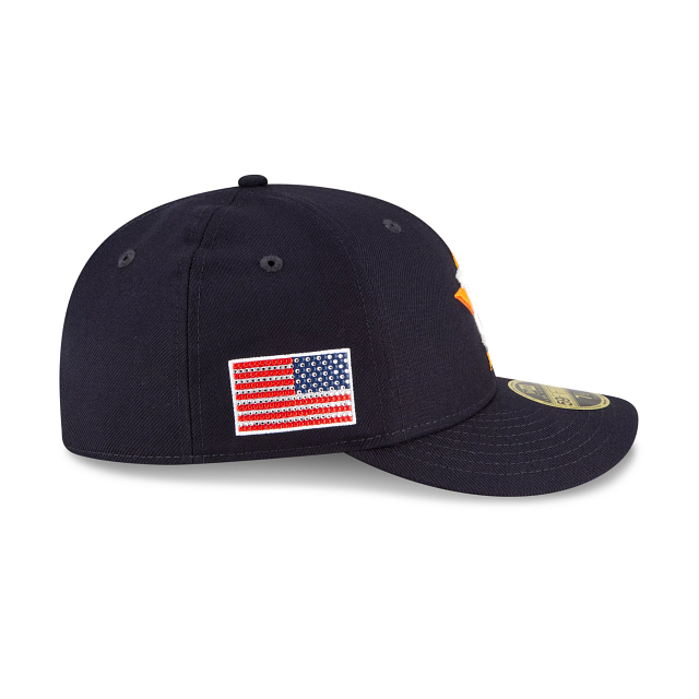 Houston Astros Crystals From Swarovski Flag Low Profile 59FIFTY Fitted | Houston Astros Hats | New Era Cap