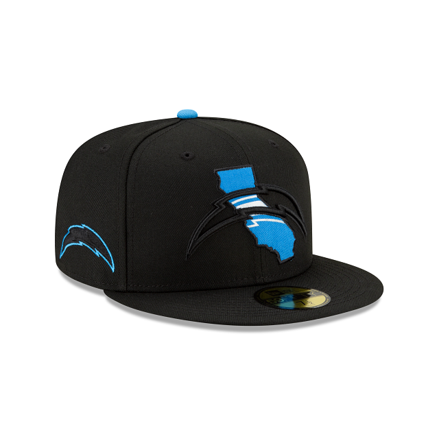 Los Angeles Chargers State Logo Reflect 59FIFTY Fitted | Los Angeles Chargers Hats | New Era Cap