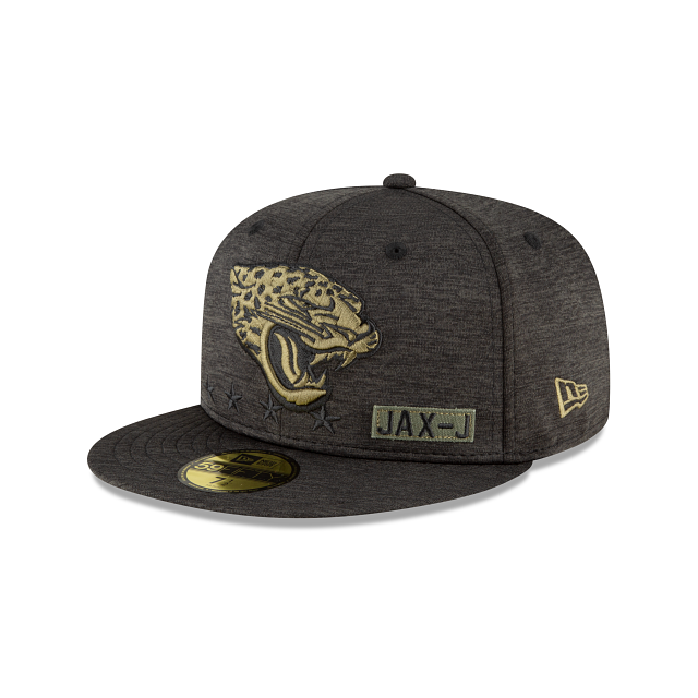 Jacksonville Jaguars Salute To Service 59FIFTY Fitted | Jacksonville Jaguars Hats | New Era Cap