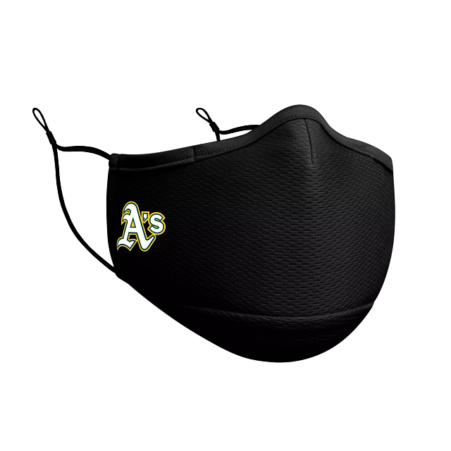 Oakland Athletics Black Face Mask | Oakland Athletics Face Coverings | New Era Cap