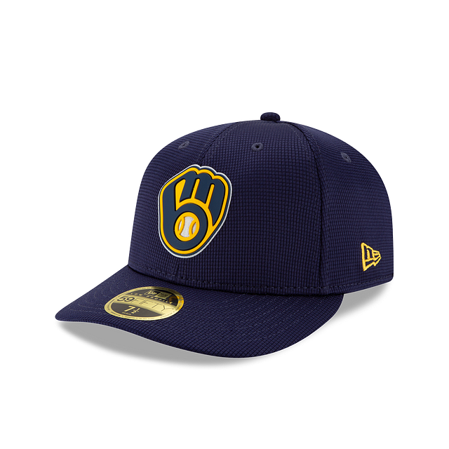 Milwaukee Brewers Clubhouse Collection Low Profile 59FIFTY Fitted | Milwaukee Brewers Hats | New Era Cap