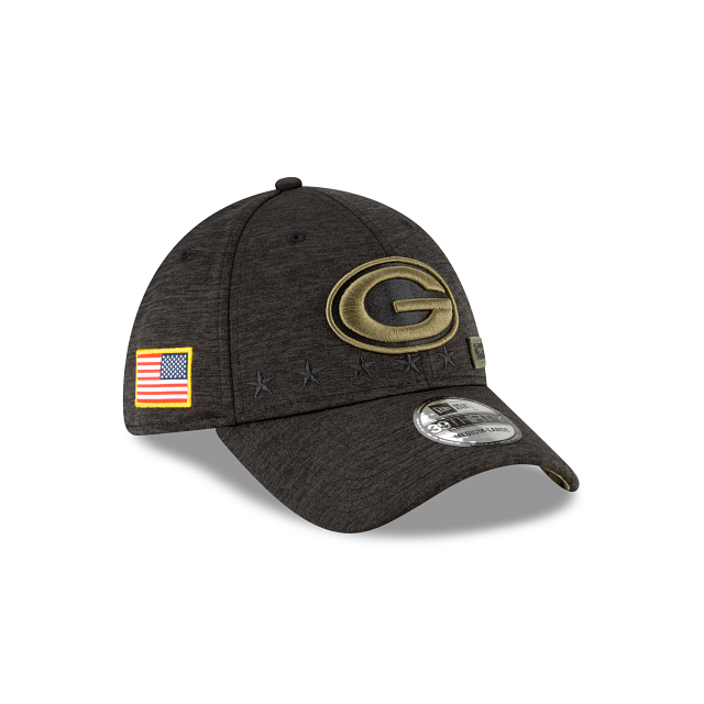 Green Bay Packers Salute To Service 39THIRTY Stretch Fit | Green Bay Packers Hats | New Era Cap