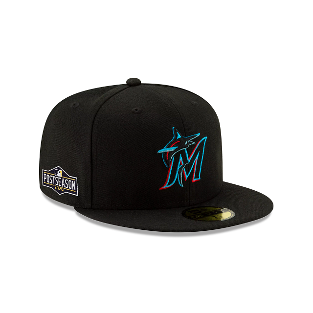 Miami Marlins Postseason Side Patch 59FIFTY Fitted | Miami Marlins Hats | New Era Cap