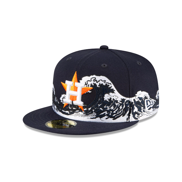 Houston Astros Wave 59FIFTY Fitted | Houston Astros Hats | New Era Cap