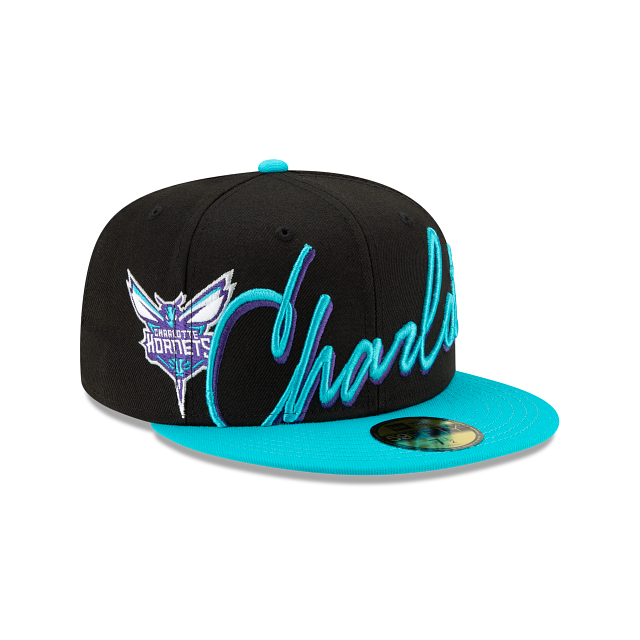Charlotte Hornets Cursive 59FIFTY Fitted | Charlotte Hornets Hats | New Era Cap
