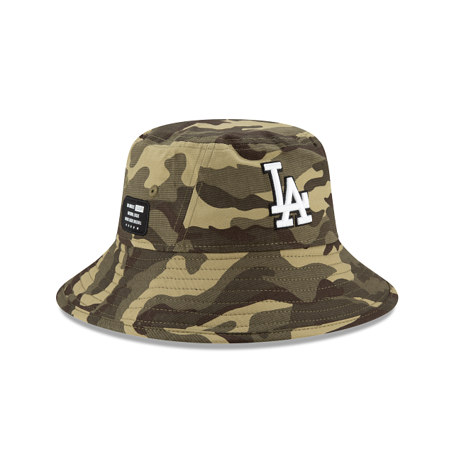 Los Angeles Dodgers Armed Forces Weekend Stretch Bucket | Los Angeles Dodgers Hats | New Era Cap