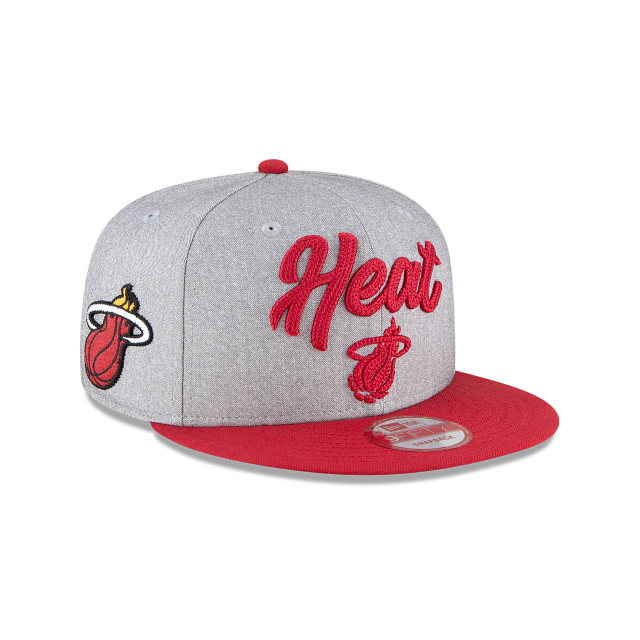 Miami Heat Official NBA Draft 9FIFTY Snapback | Miami Heat Hats | New Era Cap