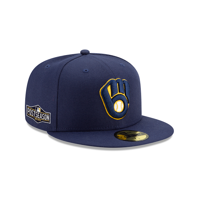 Milwaukee Brewers Postseason Side Patch 59FIFTY Fitted | Milwaukee Brewers Hats | New Era Cap
