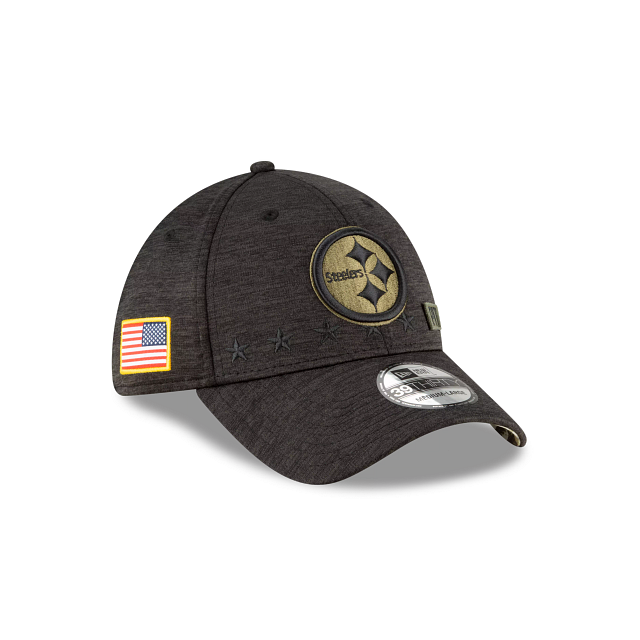 Pittsburgh Steelers Salute To Service 39THIRTY Stretch Fit | Pittsburgh Steelers Hats | New Era Cap