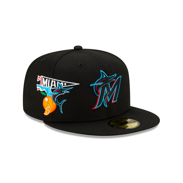Miami Marlins City Patch 59FIFTY Fitted | Miami Marlins Hats | New Era Cap