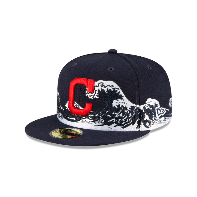 Cleveland Indians Wave 59FIFTY Fitted | Cleveland Indians Hats | New Era Cap