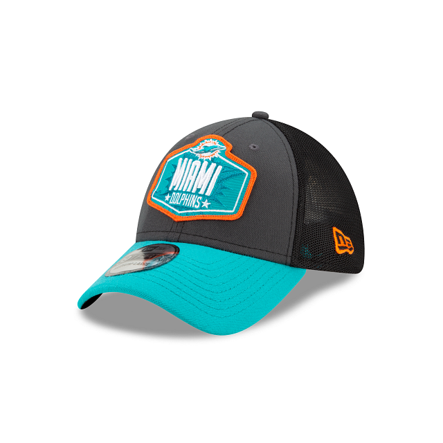 Miami Dolphins NFL Draft 39THIRTY Stretch Fit | Miami Dolphins Hats | New Era Cap