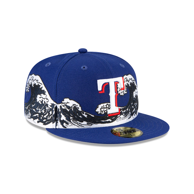 Texas Rangers Wave 59FIFTY Fitted | Texas Rangers Hats | New Era Cap